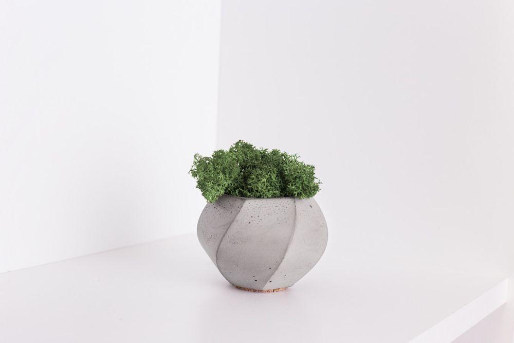 Beton-Blumentopf
