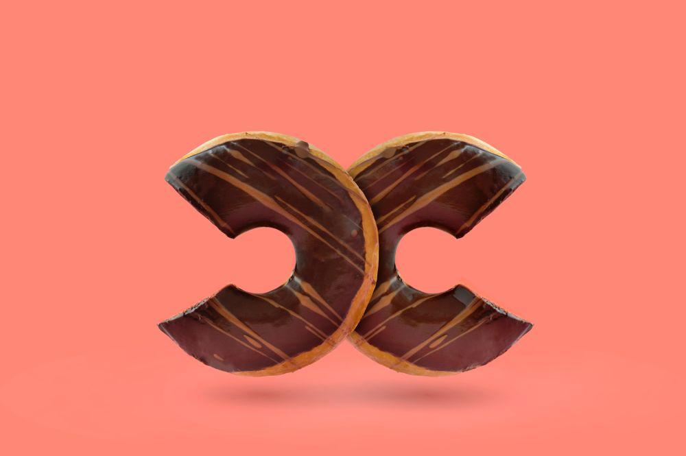 Monogramm aus Donuts