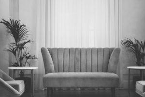 Velours-Sofa