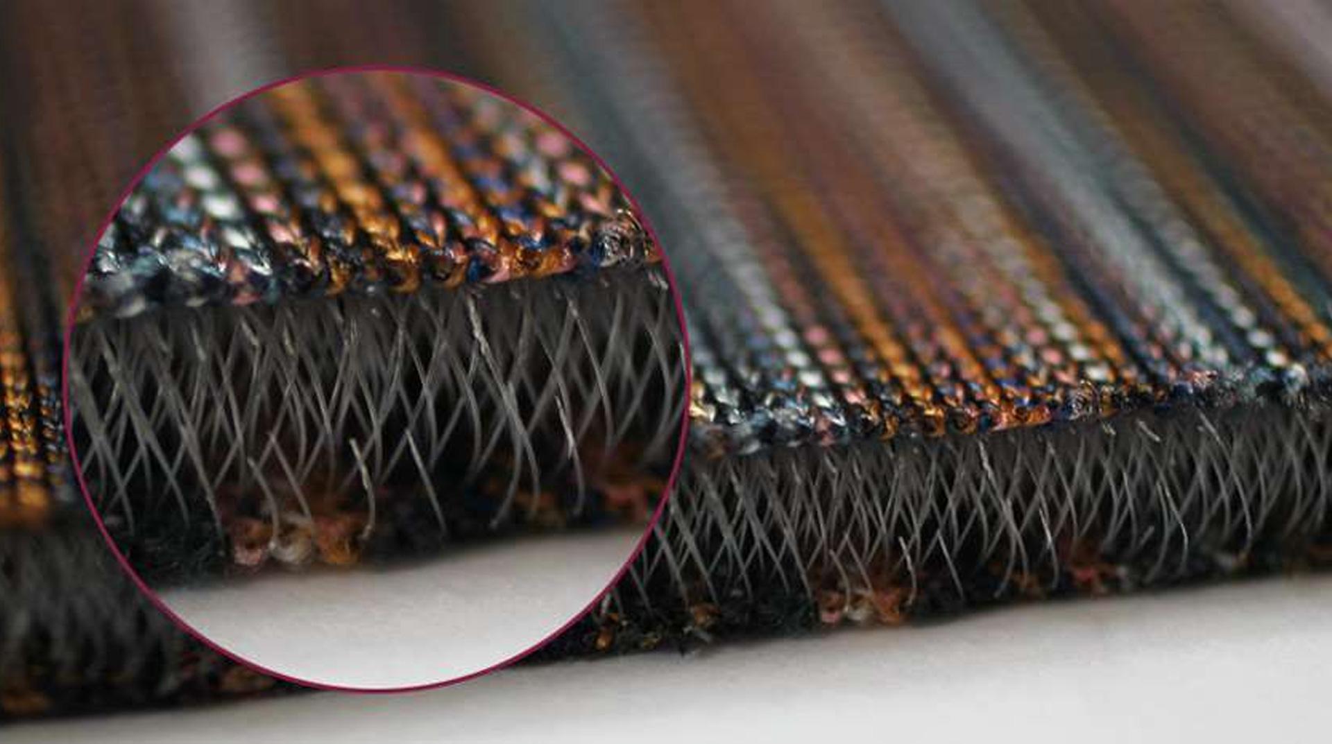 Makroaufnahme 3D-Textilien